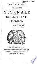 Nuovo giornale de letterati d'Italia
