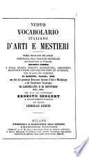 Nuovo vocabolario italiano d'arti e mestieri