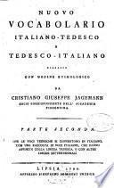 Nuovo Vocabolario Italiano-Tedesco E Tedesco-Italiano