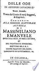 Ode Istoriche, Et Geniali