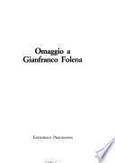 Omaggio a Gianfranco Folena
