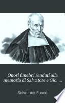 Onori funebri renduti alla memoria di Salvatore e Gio. Vinc. Fusco [Mariano Leopoldo d'Avella]