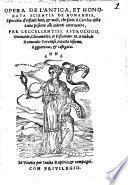 Opera del'antica ... Scientia de Nomandia