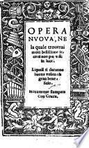 Opera Nvova, Ne la quale trouerai molti bellissime secreti non piu visti in luce