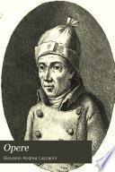 Opere del canonico Giovanni Andrea Lazzarini