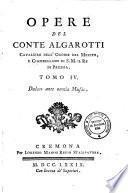Opere del conte Algarotti cavaliere dell'ordine del merito ... Tomo 1.[-10.]