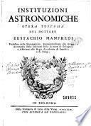 Opere del dottore Eustachio Manfredi
