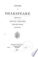 Opere di Shakspeare: Re Arrigo VI, parte terza. Re Riccardo III. Re Arrigo VIII