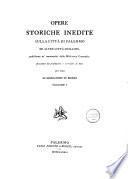 Opere storiche inedite sulla citta di Palermo ed altre città Siciliane