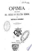 Opimia scene storiche del secolo 7. dell'era romana di Raffaello Giovagnoli