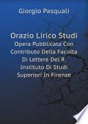 Orazio Lirico Studi