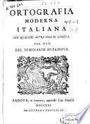 Ortografia moderna italiana con qualche altra cosa di lingua