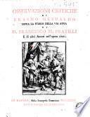 Osservazioni critiche di Erasmo Gesualdo sopra la Storia della via Appia di d. Francesco M. Pratilli e di altri autori nell'opera citati