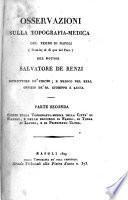 Osservazioni sulla topografia-medica del Regno di Napoli