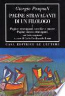 Pagine stravaganti di un filologo
