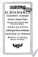 Panegirici del conte D. Emanuele Tesauro caualier Gran Croce de' SS. Mauritio e Lazaro. Dedicati alla regale altezza di madama Cristiana di Francia, ..