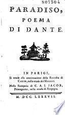 Paradiso, poema di Dante [colla vita di Dante da L. Dolce]