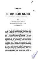 Parole del cav. prof. Filippo Parlatore presidente della Società toscana d'orticoltura lette nell'adunanza solenne del 6 aprile 1856 in occasione de' premj