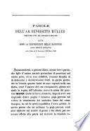 Parole lette dopo la benedizione delle bandiere degli istituti scolastici nella Chiesa di s. Francesco il 22 marzo 1868 dell'ab. Benedetto Müller