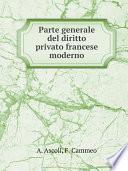 Parte generale del diritto privato francese moderno