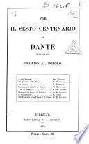 Per il sesto centenario di Dante (MDCCCLXV)