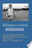 Per una sociologia dell'infanzia. Dinamica della ricerca e costruzione delle Conoscenze