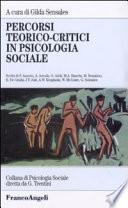 Percorsi teorico-critici in psicologia sociale
