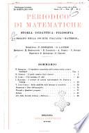 Periodico di matematiche storia, didattica, filosofia