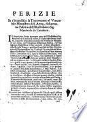 Perizie se s'impedisca la tramontana al venerabile monastero di S. Anna, dalla nuoua fabrica dell'illustrissimo sig. marchese de Caualieri