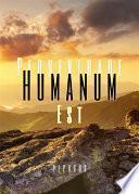 Perseverare Humanum Est