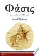 Phàsis n. 1, 2013 – Appel / Élection