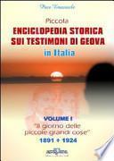 Piccola enciclopedia storica sui Testimoni di Geova