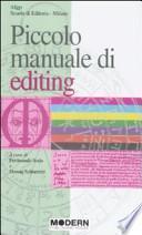 Piccolo manuale di editing