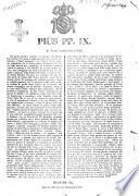 Pius PP. 9. ai nostri amatissimi sudditi
