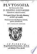 Plutosofia ... nella quale si spiega l'arte della memoria, con altre cose notabili