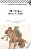Poesie a Cinzia. Testo latino a fronte