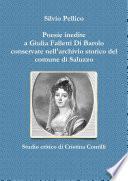 Poesie inedite a Giulia Falletti Di Barolo conservate nell'archivio storico del comune di Saluzzo