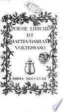 Poesie liriche di Mattia Damiani volterrano