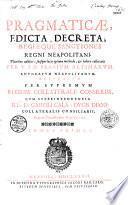 Pragmaticae, edicta, decreta, regiaeque sanctiones Regni Neapolitani