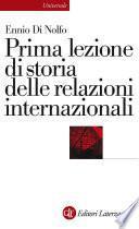 Prima lezione di storia delle relazioni internazionali