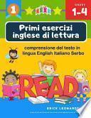 Primi esercizi inglese di lettura comprensione del testo in lingua English Italiano Serbo