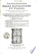 Primo volume, & Seconda editione DELLE NAVIGATIONI ET VIAGGI