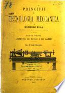 Principii di tecnologia meccanica