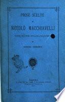 Prose scelte di Niccolò Macchiavelli per uso dei ginnasii e licei con note filologiche di Luigi Cirino