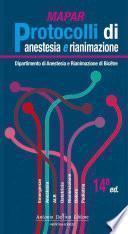 Protocolli Di Anestesia E Rianimazione Di Mapar