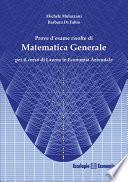Prove d'esame risolte di Matematica Generale