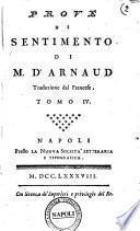 Prove di sentimento di M. d' Arnaud traduzione dal francese Tomo 1.[-12]