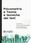 Psicometria e teorie e tecniche dei test