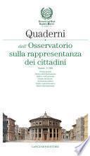Quaderni dell'Osservatorio sulla rappresentanza dei cittadini n. 6/2009