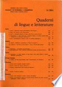 Quaderni di lingue e letterature
